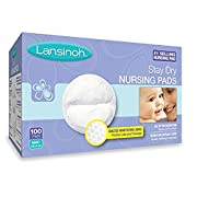 Lansinoh Stay Dry Disposable Nursing Pads, Number One Selling Breastfeeding Pad For Breastfeeding Mothers, Leak Proof Protection, Maximum Comfort and Discretion, 100 Count