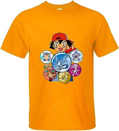PokeGO tee Unisexo Anime Camiseta Pokeball Tees Hombres Cómic ...