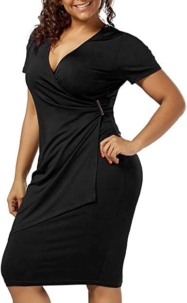 Women Half Sleeve Deep V Neck Bodycon Slim Dress Female Floral Print Mini Dress