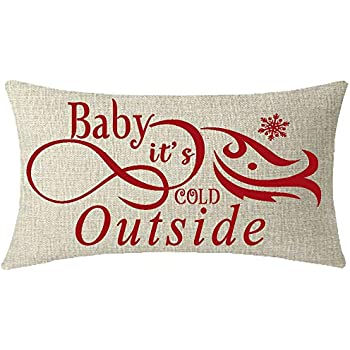 Amazon Com Mfgneh Baby It S Cold Outside Pillow Covers