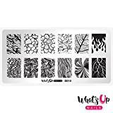 Whats Up Nails – B010 Texture Me Nature Stamping Plate For Stamped Nail Art Design