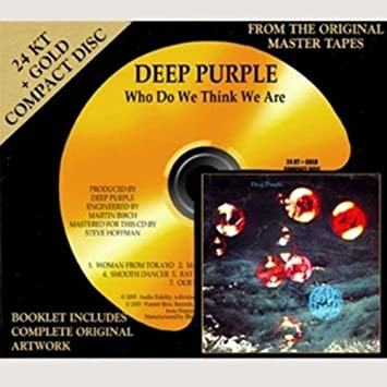 DEEP PURPLE//LTD EDITION CD GOLD DISC//RECORD//DEEP PURPLE