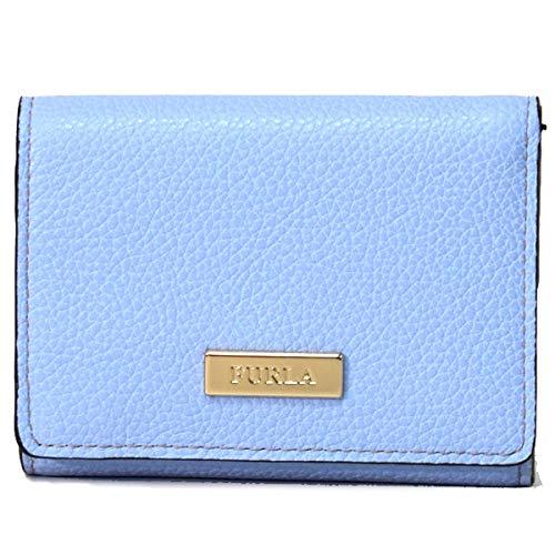 フルラ 財布 FURLA レザー コンパクト 三つ折り財布 ライトブルー 969406   B07QW5WRRP