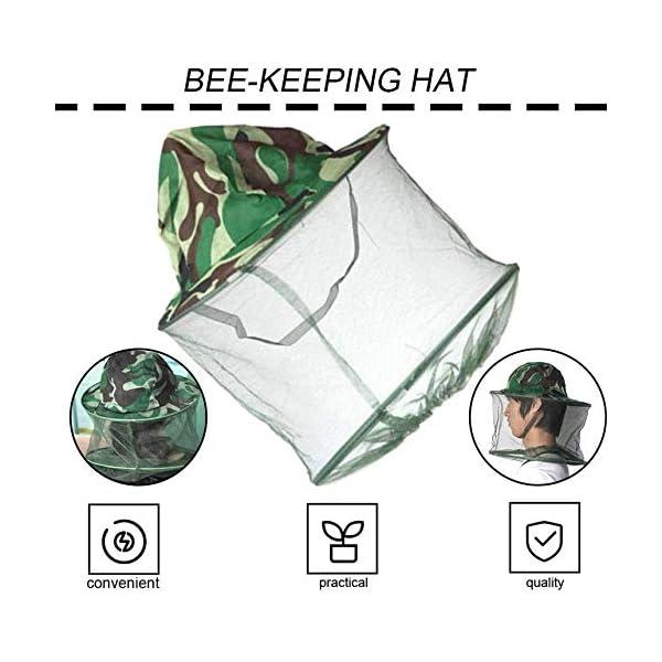 FinukGo Cappello Apicoltore Cappello Mimetico Esterno Cappello Ape Anti-zanzara all'aperto Cappello cespuglio Pesca… 2 spesavip