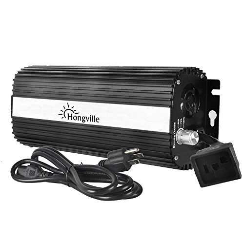 Hongville Hydroponic 600 Watt Digital Dimmable Electronic Ballast for HPS MH Grow Light System Kits ()