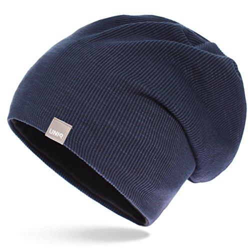 para Azul de Gorro hombre punto UNIQ qxz84U5