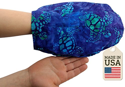 The Hand Mitt - Hot Or Cold Therapy Pack - Batik Turtle (Cold Therapy Mitt)