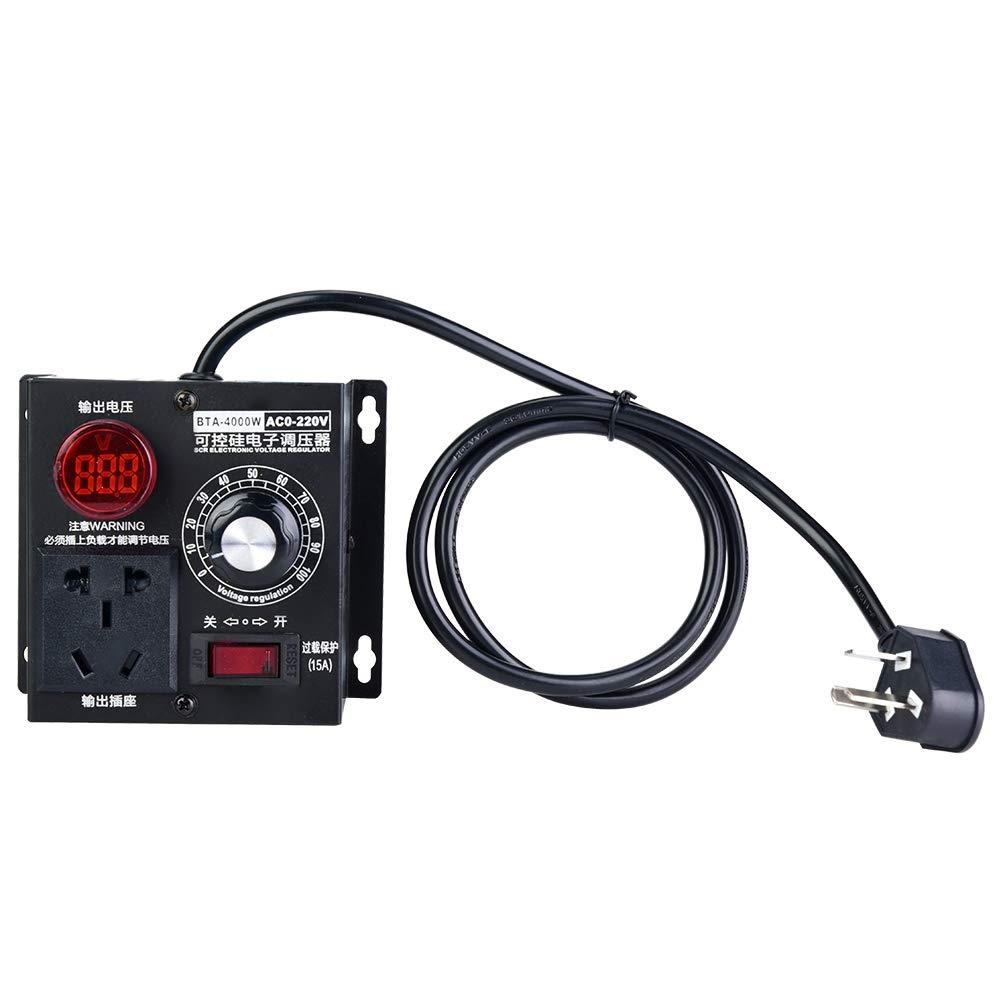 AC 220V Spannungsregler 4000W Drehzahlregler Dimmer Variable Voltage Controller