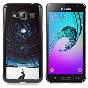 """Planetar ( Modelo de la piel del leopardo del guepardo Amor"""" ) Samsung Galaxy J3(2016) J320F J320P J320M J320Y Fundas Cover Cubre Hard Case Cover"""