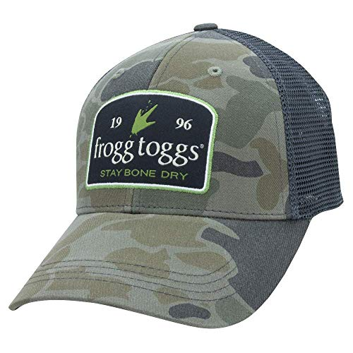 (Frogg Toggs Trucker Cap, Stay Bone Dry Cap, Cloud Camo/Black, One Size)