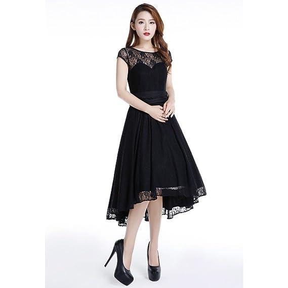 874df1b58c0 Chic Star Black Cotton Lace Dress Standard to Plus Sizes UK Sizes 6 ...