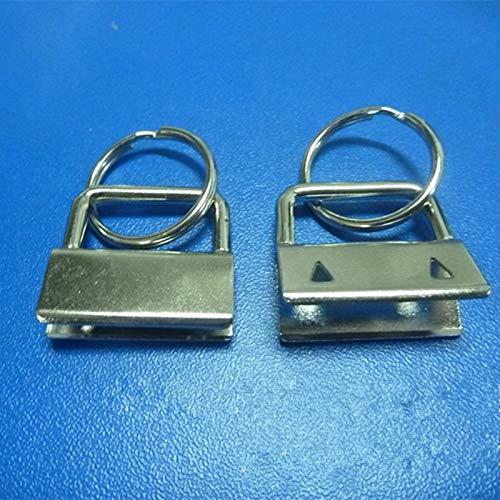 (Ochoos 100PCS Key Fob Hardware 32mm 25mm 1.25'' 1'' keychain Split ring For wrist Wristlets Cotton - (Size: 25mm))