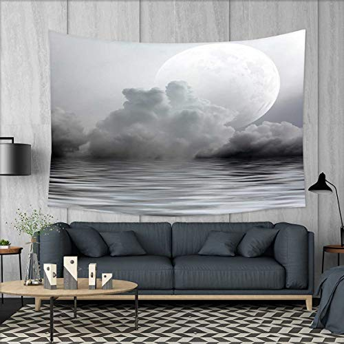 smallbeefly Moon Tapestry Wall Tapestry Misty Air in