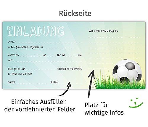 Postkartenschmiede 12 Fussball Einladungskarten Geburtstag Kinder