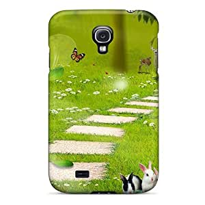 Galaxy S4 Case Cover - Slim Fit Tpu Protector Shock Absorbent Case (new Enchanted Forest)