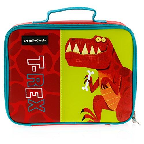 Crocodile Creek Eco Kids Dinosaur T-Rex Insulated Boys Lunchbox with Handle, 10