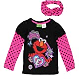Sesame Street Elmo Girls Long Sleeve Tee (Baby/Toddler)