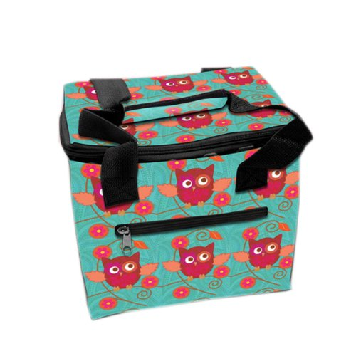 LUNCH TOTE 6PK PINK OWL