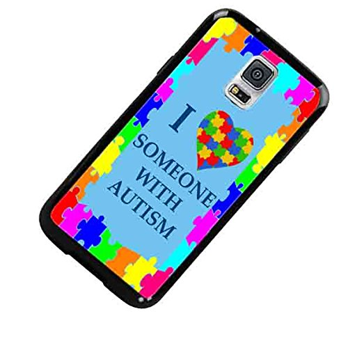 Autism Awareness I Love Someone With Autism Colorful Custom Shockproof Rubber Case By S and S Accessories(TM) for Samsung Galaxy S5