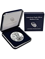 2018 American Silver Silver With Genuine US Mint Gift Box - ASE .999 Fine Silver Dollar Brilliant Uncirculated