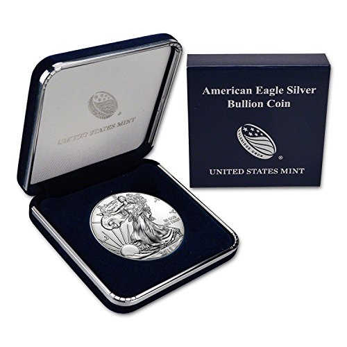 (2018 American Silver Silver With Genuine US Mint Gift Box - ASE .999 Fine Silver Dollar Brilliant Uncirculated)