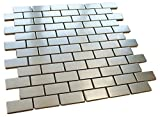 Matte Stainless Steel Mosaic Tile Brick Pattern for Bathroom and Kitchen Walls Kitchen Backsplashes By Vogue Tile