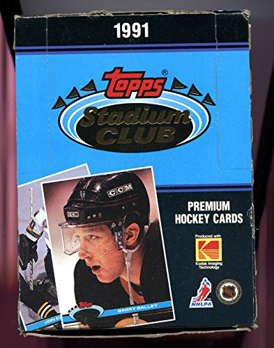 1991-92 Topps Stadium Club Hockey Set Wax Pack Box 1992 ()