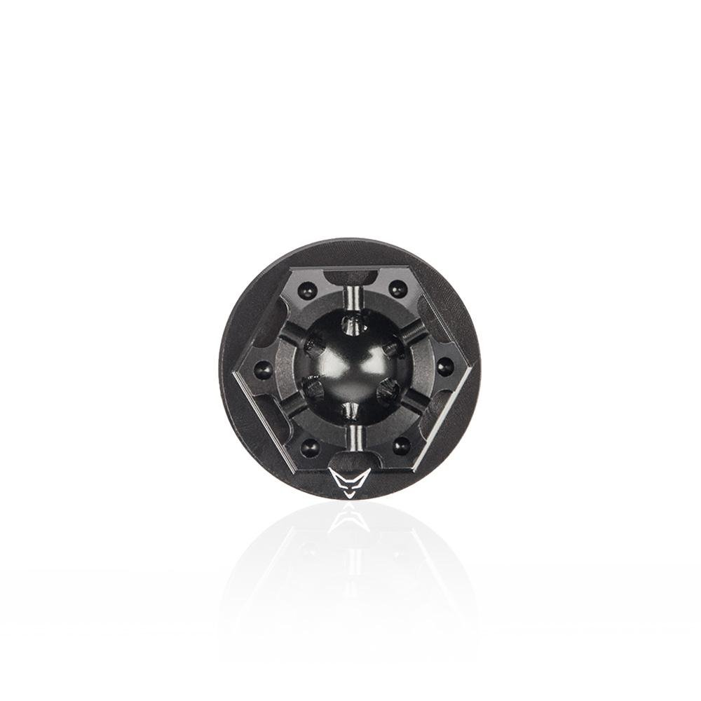 /Öleinf/ülldeckel Kappe /Öl RACEFOXX Honda/Öldeckel Aluminium gefr/äst /Ölkappe schwarz Deckel