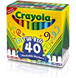 Crayola Broad Line Ultra-Clean Washable Markers (40 Count)