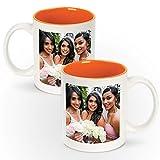12 Personalized 11oz White Ceramic Mugs With Colored Interior - Add Photo, Logo, or Image to This Custom Coffee Mug. BPA-free, Microwaveable & Top Shelf Dishwasher Safe.