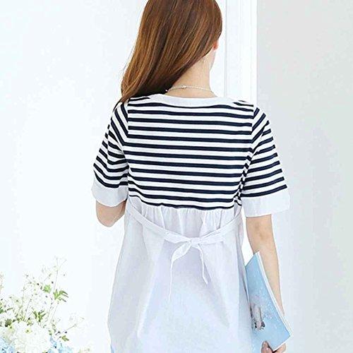 per Le Keephen per Donne T Shirt delle per Allattamento Incinte Neonati Camicie infermieristiche Bianca Camicie ffwqI5Tx
