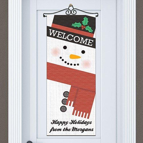 Personalized Snowman Door Banner, 13