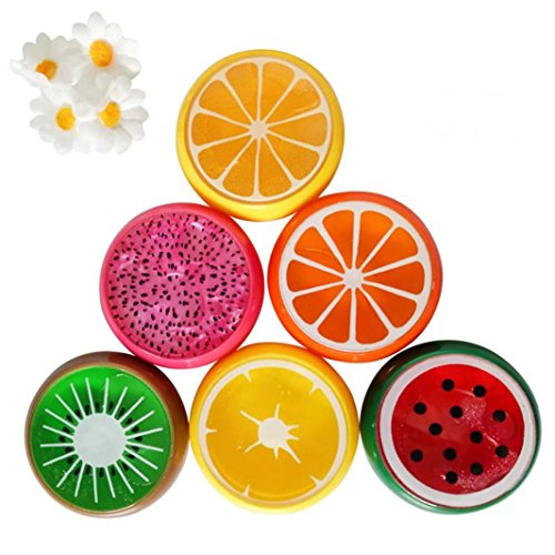 Price comparison product image Mchoice 6PC Crystal Fruit Clay Rubber Mud Intelligent Hand Gum Plasticine Slime Kid Toys