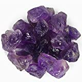 "Hypnotic Gems Materials: 1 lb Amethyst Stones ""AAA"" Grade Large Chunk from Brazil - Raw Natural Rough Crystals for Cabbing, Tumbling, Lapidary, Polishing, Wire Wrapping, Wicca & Reiki Crystal Healing"