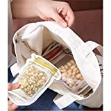 FairOnly Mason Jar Pattern Sealing Food Bags for Cookies Snacks Spice Storage