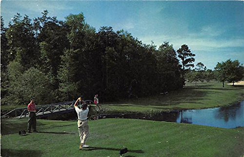 No 1 at Lakewood Golf Club, Grand Hotel Point Clear, Alabama, AL, USA Old Vintage Golf Postcard Post -