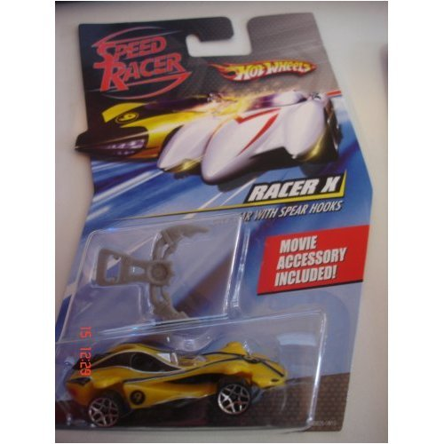 RACER X RACE CAR WITH SPEAR HOOKS Hot Wheels SPEED RACER 1:64 Scale Movie Vehicle ()