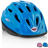 KIDS Bike Helmet - Adjustable from Toddler to Youth Size, Ages 3-7 - Durable Kid Bicycle Helmets with Fun Aquatic Design Boys and Girls will LOVE - CPSC Certified for Safety and Comfort - FunWave