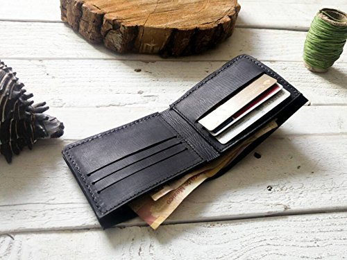 Black wallet | mens wallet | Gift | without logo| father | boyfriend | card