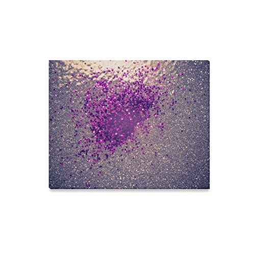 WIEDLKL Wall Art Painting Decorative Glitter Silver and Purple As Abstract Prints On Canvas The Picture Landscape Pictures Oil for Home Modern Decoration Print Decor for Living Room