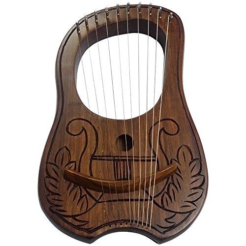 AAR Lyre Harp 10 Metal Stings Engraved Celtic Harp Design/Lyre Harfe/Lyra Harp by AAR