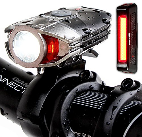 Blitzu-Gator-380-Usb-Rechargeable-POWERFUL-Lumen-Bike-Light-Set-with-FREE-LED-TAIL-LIGHT-Waterproof-Easy-Installation-Headlight-Flashlight-for-Cycling-Safety