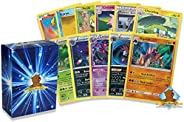 50 Assorted Pokemon Cards - 3 Rare Cards, 2 Holographic Cards, 45 Commons/Uncommons - Authentic - Includes Gol
