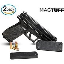 MagTuff Magnet Gun Mount 2-Pack | 43 Lbs Rated | Magnetic Gun Holster | Concealed Holder for Car, Handgun, Pistol, Shotgun, Rifle - Firearm Accessory – Gun Storage - Gun Magnet - Gun Accessories