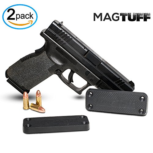 MagTuff Magnet Gun Mount 2-Pack | 43 Lbs Rated | Magnetic Gun Holster | Concealed Holder for Car, Handgun, Pistol, Shotgun, Rifle - Firearm Accessory – Gun Storage - Gun Magnet - Gun Accessories