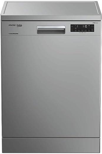 Voltas Beko 14 Place Settings Dishwasher (DF14S2, Silver)
