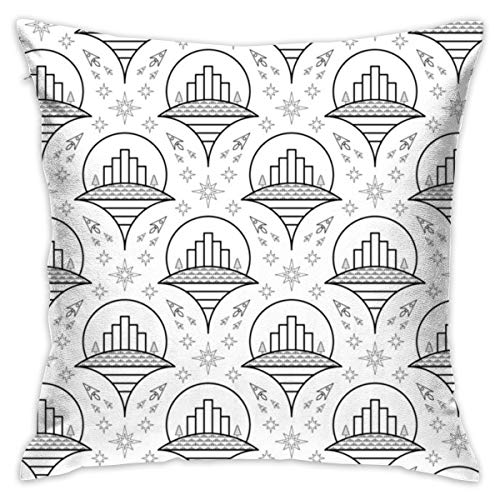 GIxilijie 04710733 Flying Cities Outline Toile Pillow Cover 18