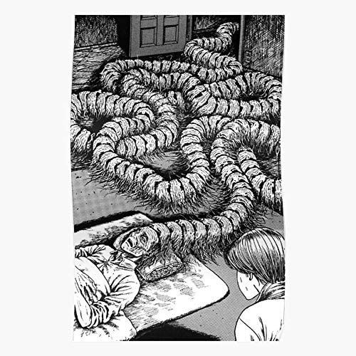 Amazon Com Kineticards Black Japan Spiral Junji Ito Japanese Girls White Manga Anime And Home Decor Wall Art Print Poster Posters Prints