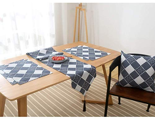 - ShuangDeng Household Tablecloth, Coffee Table Tablecloth, Bed Tail Flag Classical Cotton and Linen Living Room Tea Restaurant Rural Japanese Style,Restaurant Tablecloth (Color : 31200cm, Size : A)