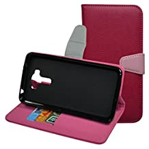 ASUS Zenfone 3 Laser ZC551KL Case,Mama Mouth [Stand View] Premium PU Leather [Wallet Case] With Card Slots and Inner Pocket Cover For ASUS Zenfone 3 Laser ZC551KL Smartphone,Rose Red